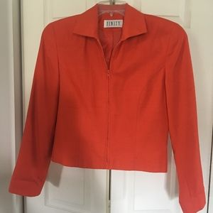 Silk Orange Finity sporty jacket